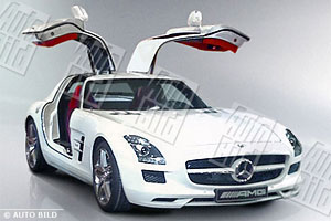 Mercedes SLS 'Gullwing' pics leaked